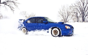 Picture Winter, Subaru, Impreza, Snow, WRX, Subaru, Impreza, STi