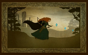 Picture forest, Scotland, Disney, Pixar, Princess, Scotland, princess, Brave heart, Brave, Merida, Merida, wisps