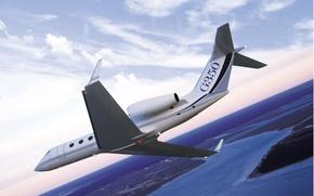 Picture Gulfstream Aerospace G350, demonstration, bend