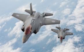 Wallpaper Lightning II, F-35, the plane, canada, aircraft, Martin, Lightning, Canada, flight, the sky, Lockheed