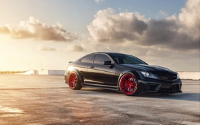 Picture tuning, coupe, Mercedes, AMG, black series, mercedes c63