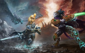 Picture Warcraft, arthas, Heroes of the Storm, moba, zeratul