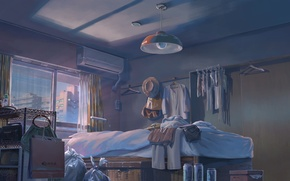 Picture The evening, Room, Window, Anime, Things, Makoto Xingkai, Anime, Evening, Room, Window, The Garden Of …