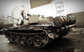 Picture tank, USSR, armor, T-54, military equipment