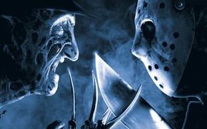 Wallpaper horror, Friday the 13th, Jason Voorhees, smoke, hat, eyes, machete, face, film, mask, 2003, Freddy ...