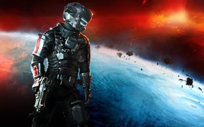 Picture space, weapons, planet, Isaac Clarke, Mass Effect 3, Electronic Arts, DLC, Dead Space 3, Isaac …