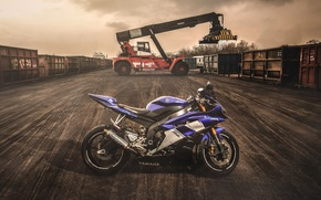 Wallpaper Motorcycle, Moto, sportbike, loader, Yamaha R6, the evening, Yamaha, container, Yamaha R6