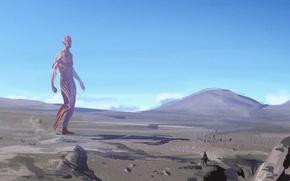 Picture the sky, landscape, anime, Attack on Titan, Shingeki no Kyojin, titan