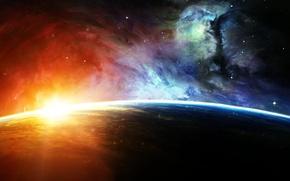 Wallpaper space, stars, nebula, planet, space, star, nebula, planet
