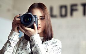 Picture girl, the camera, Mari