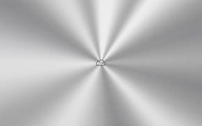 Picture minimalism, cloud, SURFACE, minimal Walls, 2560x1440, METAL, iCloud logo