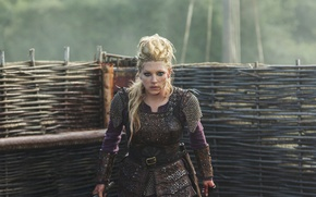 Picture look, face, blood, Vikings, The Vikings, Katheryn Winnick, Lagertha