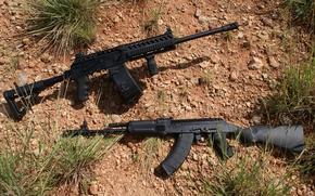 Picture the gun, carabiner, self-loading, Saiga-12