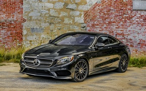 Picture Mercedes-Benz, wall, Black, 2014, AMG, S-Class, black, Mercedes, S 550, AMG, C217