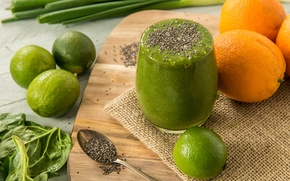 Picture green, cocktail, fruit, vegetables, fresh, fruit, smoothie, smoothies