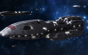 Picture Space, Cosmos, Fleet, Vessel, Spaceships, Battleships