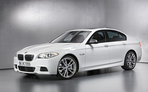Picture white, BMW, sedan, M550 D
