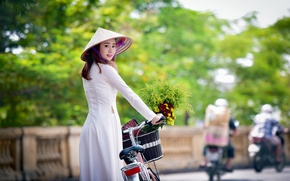 Picture girl, walk, Asian, style look