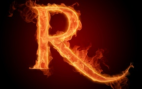 Picture fire, flame, letter, Litera