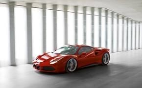 Picture Ferrari, Ferrari, The front, 488, GTB's
