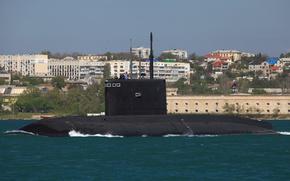 Picture boat, underwater, diesel, Sevastopol, 636.3 project