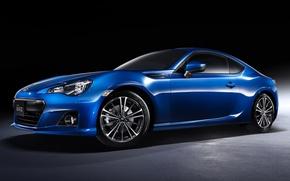 Picture blue, sports car, twilight, subaru, drives, the front, Subaru, brz, 2.0s, quick