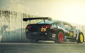 Picture Chevrolet, Camaro, Chevrolet, muscle car, black, rear, Camaro, race car, LG Motorsports