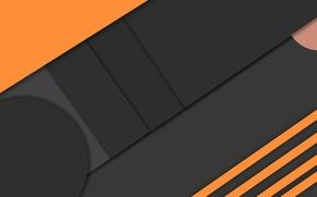 Picture orange, black, geometry, design, color, material