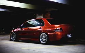 Picture Tuning, Lancer, Orange, Evolution, Evo, back, Low, Mitsubishi