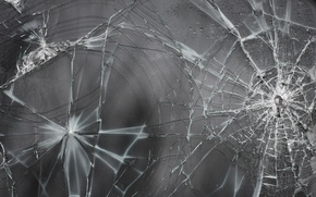 Picture glass, cracked, texture