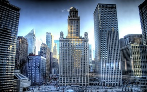 Picture building, skyscrapers, USA, America, Chicago, Chicago, USA, illinois