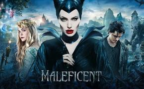 Picture Angelina Jolie, Movie, Maleficent, Elle Fanning, Brenton Thwaites