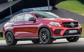 Picture red, coupe, Mercedes-Benz, Mercedes, AMG, Coupe, 4MATIC, 2015, C292, GLE 450
