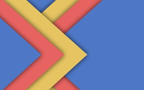 Picture line, yellow, blue, geometry, design, color, material