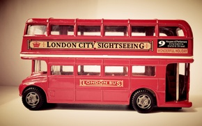 Picture red, toy, England, London, bus, bus, small, london bus