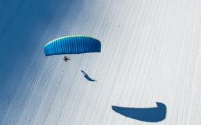 Wallpaper sport, parachuting, winter