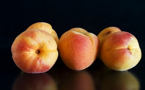 Picture reflection, background, fruit, apricots
