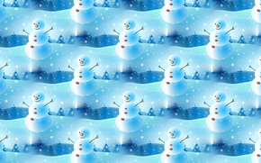 Picture background, mood, holiday, texture, New year, snowman, snowflake