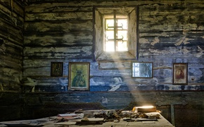 Picture sadness, hope, window, the room, icons, desolation, a beam of light