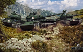 Picture Japan, tanks, in the mountains, world of tanks, Wargaming.net, WOT, Type 61, STB-1, STA-1, way …