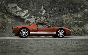 Picture Ford, red, wheels, Ford GT2