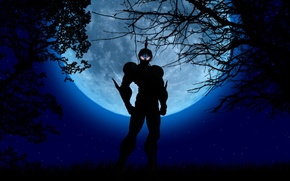 Picture forest, look, armor, the full moon, Guyver, guyver