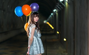 Picture look, balls, face, hair, dress, the tunnel, cutie