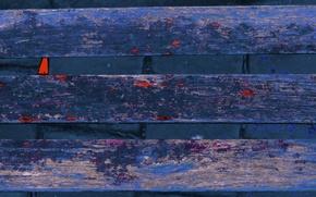 Picture wall, Board, bricks, bench