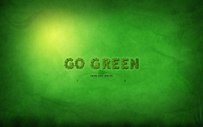 Picture green, background, Style, Go Green