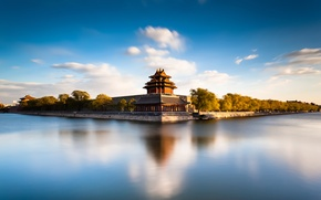 Wallpaper river, China, architecture, Beijing Forbidden City Moat