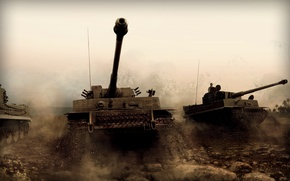 Picture war, tiger, the Germans, Tanks