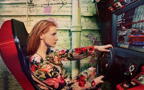Wallpaper Porter, the wheel, chair, photographer, redhead, journal, Ryan McGinley, model, actress, race, Jessica Chastain, Jessica ...