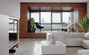 Picture design, interior, living room, minimalizm style