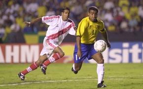 Picture the ball, striker, Brazilian footballer, Romario